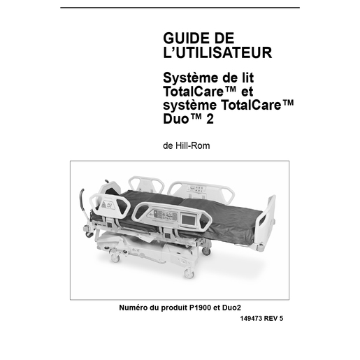 User Manual, TotalCare M Model & Duo 2, French