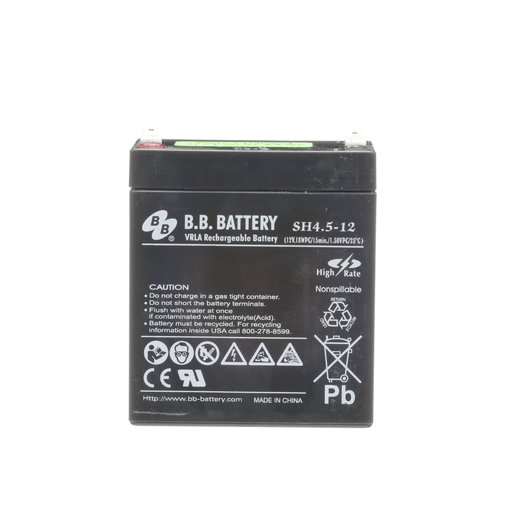 Battery, Lead Acid, 12V, 4.5Ah
