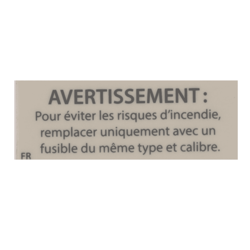Label, UL Warning Fuse, French