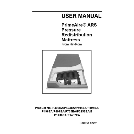 User Manual, Primeaire Ars Mattress