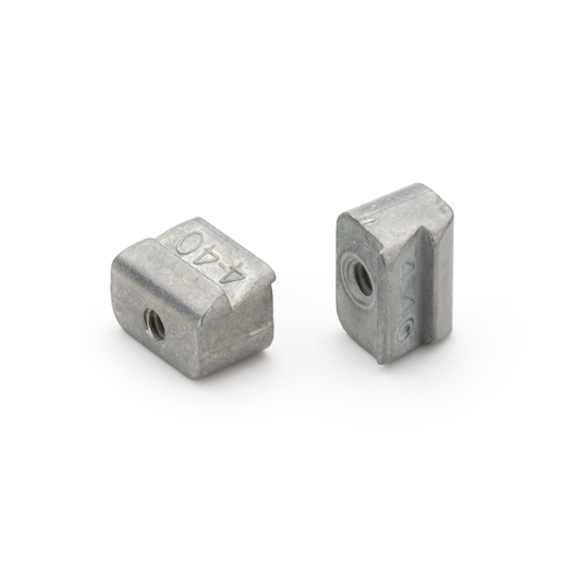 Latch Block Connector Mount, Zinc, 0.25