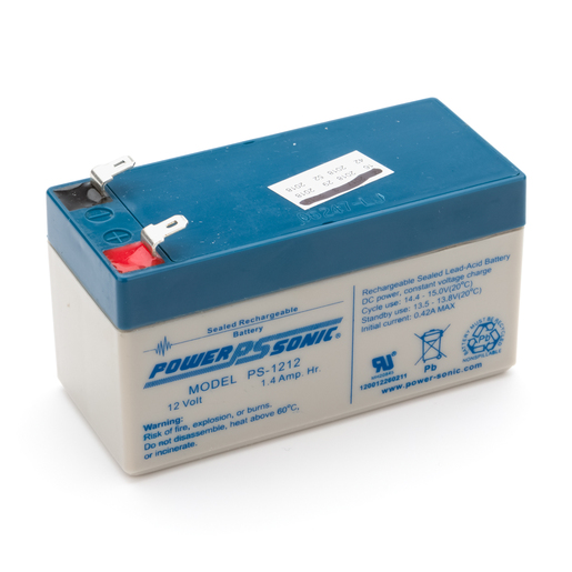 Battery, Rechargeable SLA, 12V, 1.3, 1.4Ah