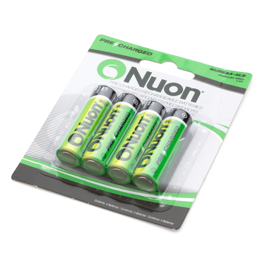 Battery, Rechargeable 4-Pack, AA NIMH, 1.2V